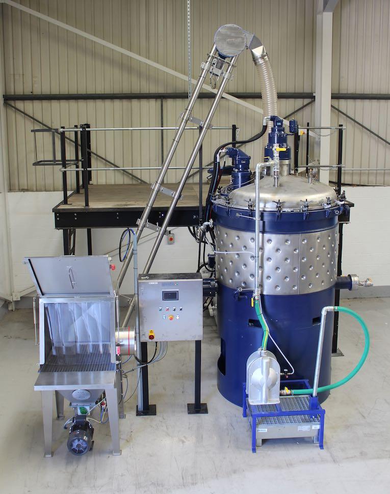spiroflow transportband chemique lijmen