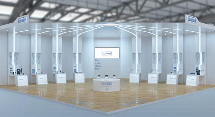 Bürkert virtual exhibition stand offers web and VR visitor experience -  Process Industry Informer