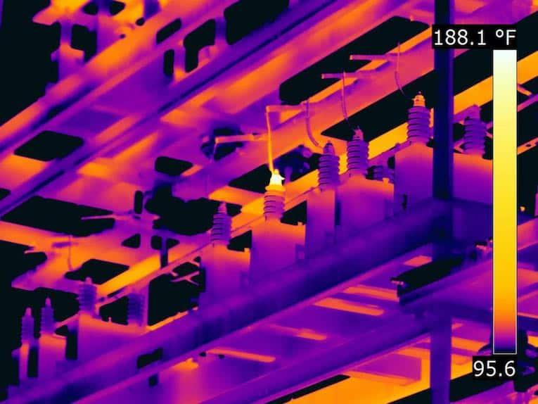 FLIR-Wärmebild-Umspannwerke