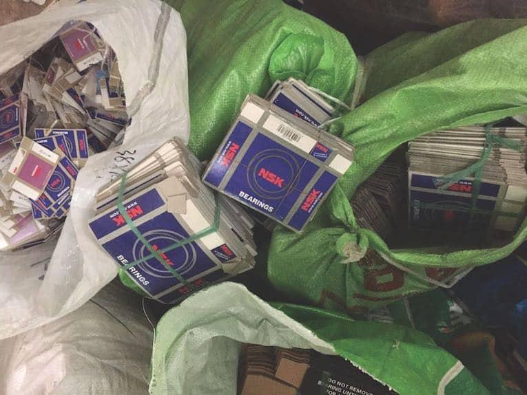 pacotes falsos de NSK