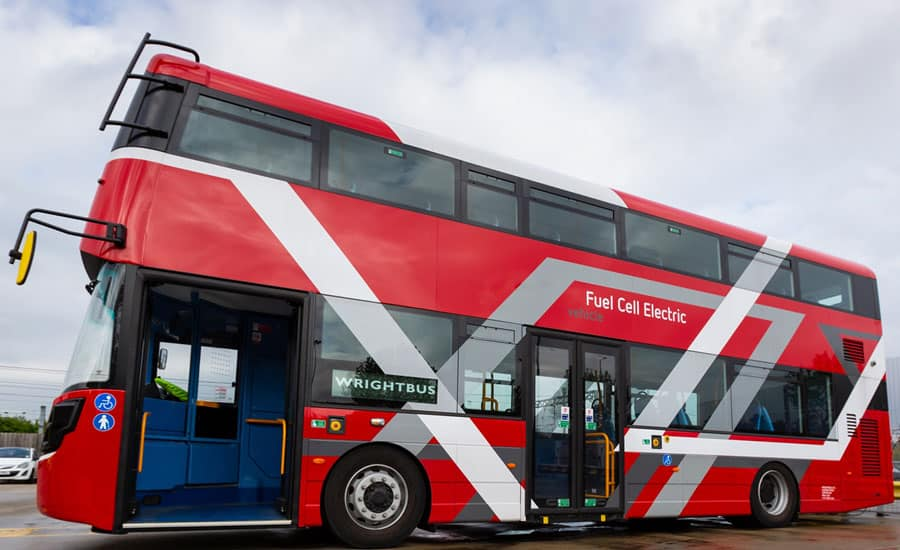 Green Hydrogen: Electric double decker copyright transport for London