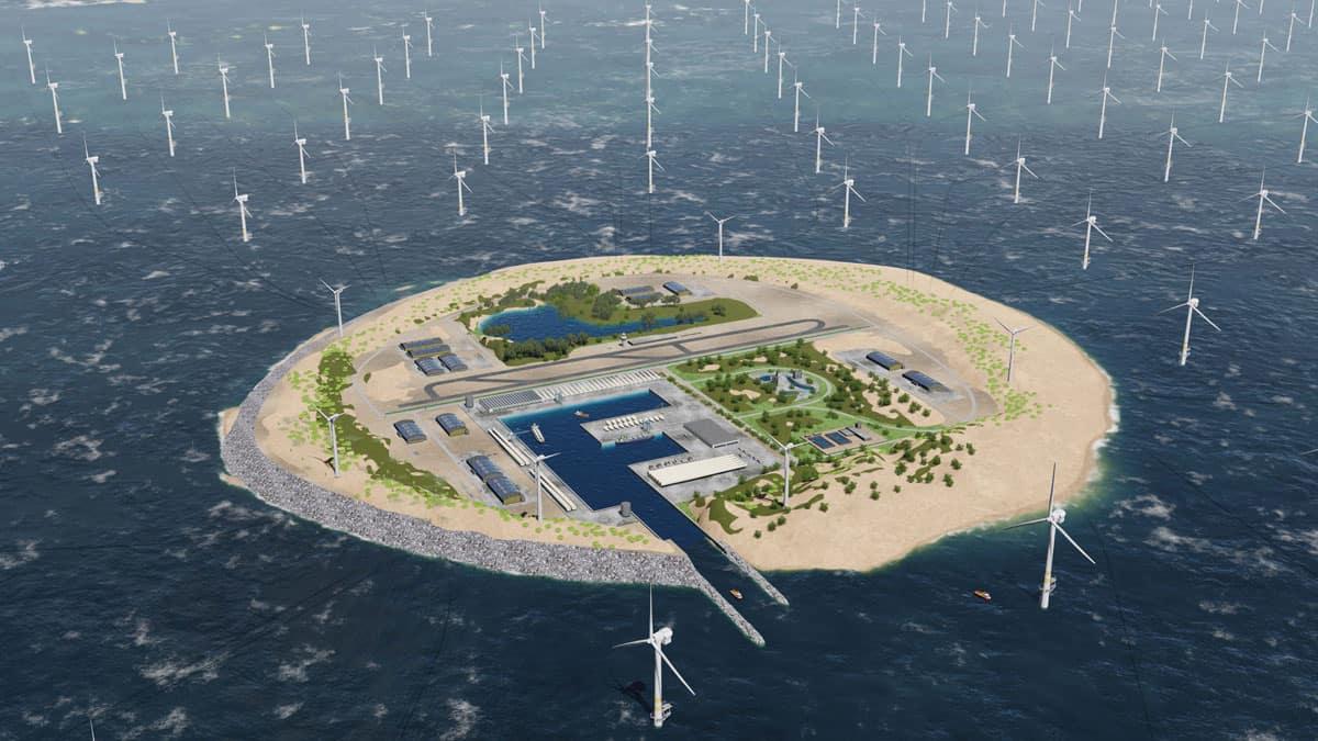 CGI of Green Hydrogen sland (media) - photo courtesy of TenneT