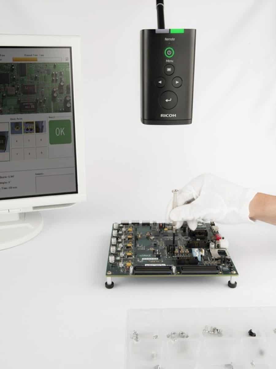 机器视觉 - 使用理光SC 10人体辅助摄像机检查系统复制的PCB组装