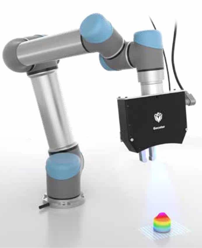 Vision par machine - Sélection de pièces par un robot guidé 3D Vision (avec l'aimable autorisation de LMI Technologies