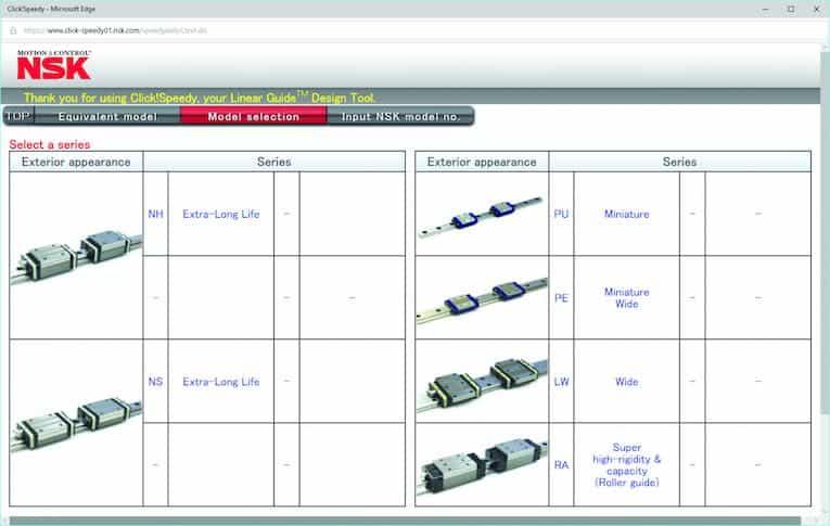 strumento di progettazione a guida lineare ClickSpeedy