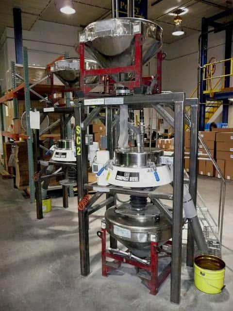 Metallpulversiebausrüstung
